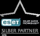 Logo von ESET Partnerstatus Silber